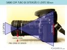 Lente 50mm com tubo de extensão