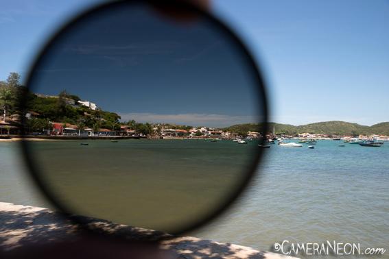 Filtro polarizador; câmera; foto; fotografia; como tirar fotos; acessórios para fotografia; Búzios; Hoya HD