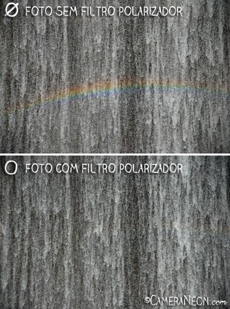 Filtro polarizador; câmera; foto; fotografia; como tirar fotos; acessórios para fotografia; Water wall; rainbow; arco-íris; cascata