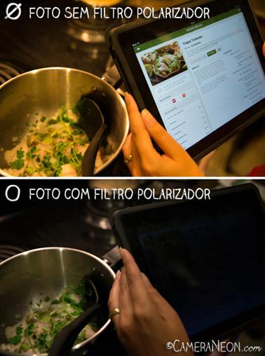 Filtro polarizador; câmera; foto; fotografia; como tirar fotos; acessórios para fotografia; Cozinhando; iPad; Receita; cooking; Recipe; Fish