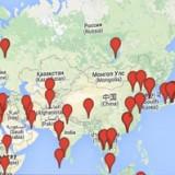 Mapa Geral de Viagens Fotográficas