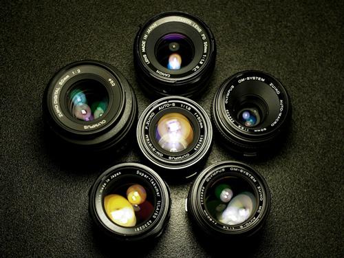 Lentes de câmeras semiprofissionais