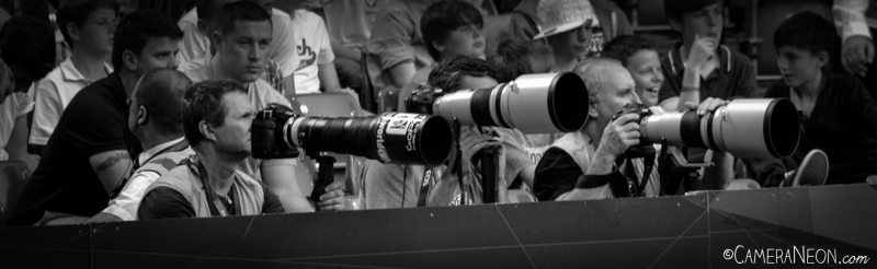 Fotógrafos profissionais no jogo Brasil Vs Egito nas Olimpíadas de 2012
